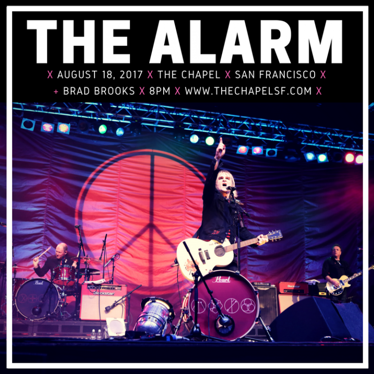 The Alarm @ The Chapel 8/18 w/Brad Brooks